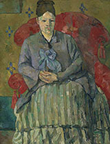 Madam Cezanne in a Red Armchair - Paul Cezanne reproduction oil painting