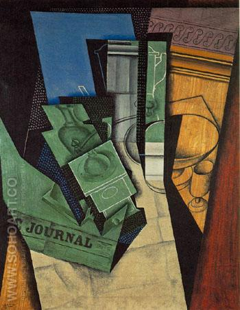 The Breakfast 1915 - Juan Gris reproduction oil painting
