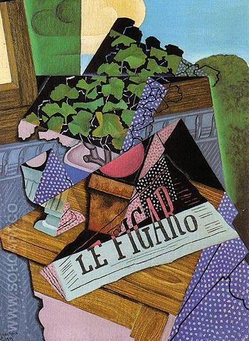 The Pot of Geraniums 1915 - Juan Gris reproduction oil painting
