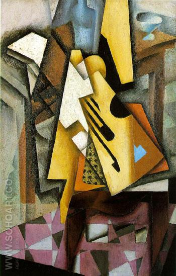 Guitar on a Chair 1913 - Juan Gris reproduction oil painting