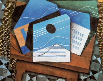 Guitar on a Table 1915 - Juan Gris reproduction oil painting