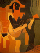 Harlquin with Guitar 1919 - Juan Gris