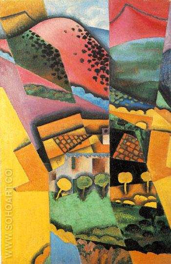 Landscape at Ceret 1913 - Juan Gris reproduction oil painting