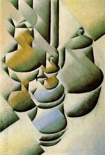 Still Life with Oil Lamp c1911 - Juan Gris reproduction oil painting