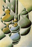 Still Life with Oil Lamp c1911 - Juan Gris