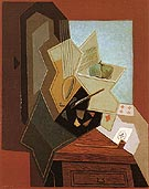 The Painters Window 1925 - Juan Gris reproduction oil painting