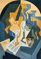 Still Life with Fruit Dish and Mandolin 1919 - Juan Gris reproduction oil painting