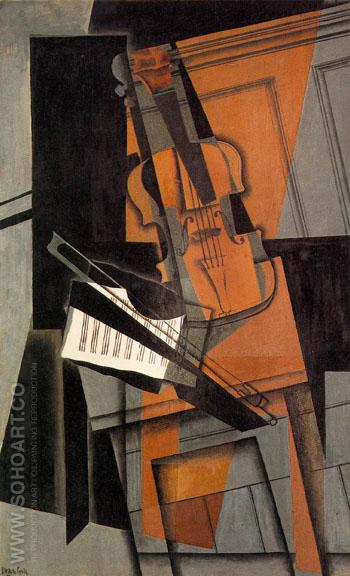 The Violin 1916 - Juan Gris reproduction oil painting