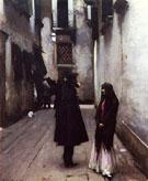 Venetian Street c1880 - John Singer Sargent reproduction oil painting
