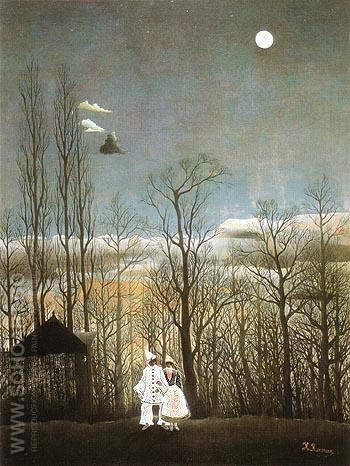 A Carnival Evening 1886 - Henri Rousseau reproduction oil painting