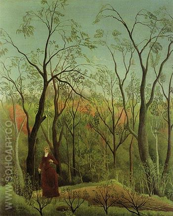 The Walk in the Forest c1888 - Henri Rousseau reproduction oil painting