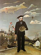 Myself Portrait Landscape 1890 - Henri Rousseau reproduction oil painting