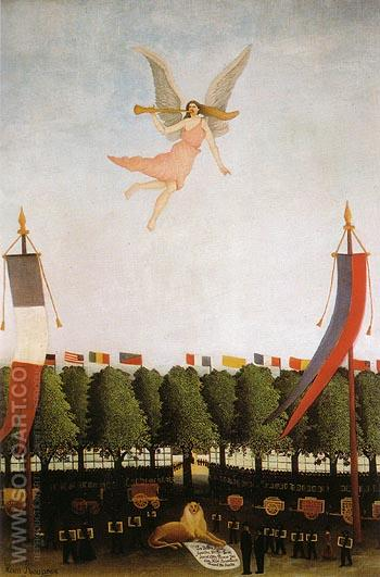 Liberty inviting the Artists 1906 - Henri Rousseau reproduction oil painting