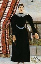 Portrait of a Woman about 1895 - Henri Rousseau reproduction oil painting