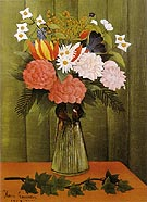 Flowers in a Vase 1909 - Henri Rousseau reproduction oil painting