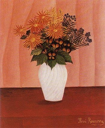 Flowers 1895 1900 - Henri Rousseau reproduction oil painting