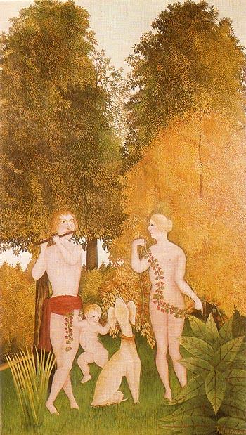 Happy Quartet 1906 - Henri Rousseau reproduction oil painting