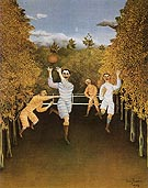The Football Piayers 1908 - Henri Rousseau reproduction oil painting