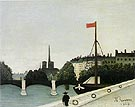 View of the Ile Saint Louis seen from the Quai Henri IV 1901 - Henri Rousseau