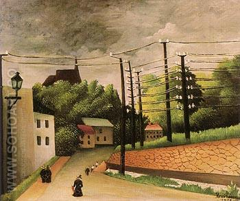 View of Malakoff 1908 - Henri Rousseau reproduction oil painting