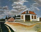Chair factory about 1897 - Henri Rousseau reproduction oil painting