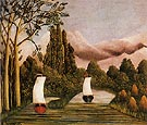 The Banks of the Oise c1908 - Henri Rousseau reproduction oil painting