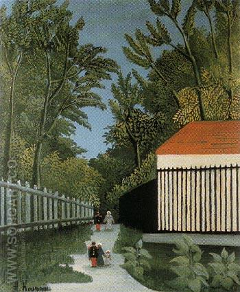 Walk in the Parc Monsouris c1910 - Henri Rousseau reproduction oil painting