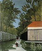 Walk in the Parc Monsouris c1910 - Henri Rousseau
