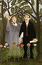 The Muse Inspiring the Poet 1909 - Henri Rousseau reproduction oil painting
