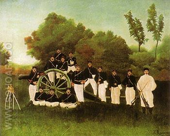 Artillerymen - Henri Rousseau reproduction oil painting