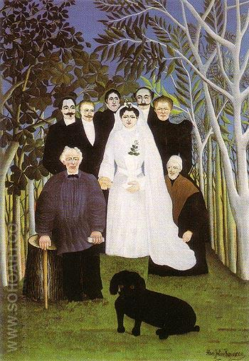 A Country Wedding - Henri Rousseau reproduction oil painting