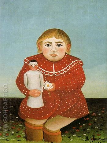 Portrait of a Girl 1906 - Henri Rousseau reproduction oil painting