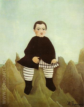 Boy on the Rocks - Henri Rousseau reproduction oil painting