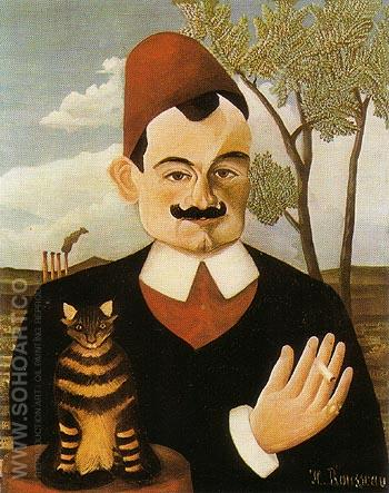 Portrait of Pierre Loti c1891 - Henri Rousseau reproduction oil painting