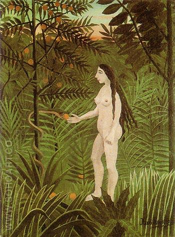 Eve - Henri Rousseau reproduction oil painting