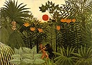 Gorilla and Indian 1910 - Henri Rousseau