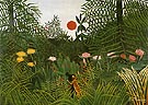 Negro Attacked by a Jaguar 1910 - Henri Rousseau