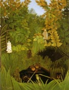 Merry Jesters 1906 - Henri Rousseau reproduction oil painting