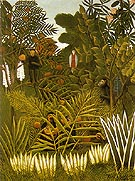 Exotic Landscape 1908 - Henri Rousseau reproduction oil painting