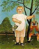 An exemplum to fete Baby 1903 - Henri Rousseau reproduction oil painting