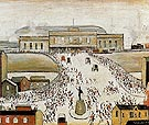 Station Approach 1962 - L-S-Lowry