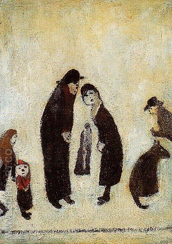Street Scene 1960 - L-S-Lowry reproduction oil painting