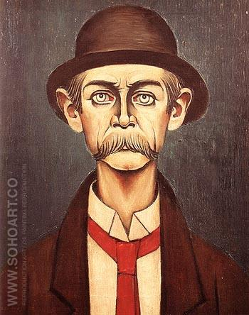 The Manchester Man 1936 - L-S-Lowry reproduction oil painting