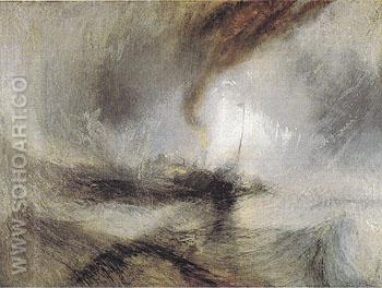 Snow Storm 1842 - Joseph Mallord William Turner reproduction oil painting