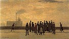 A Sudden Illness 1920 - L-S-Lowry reproduction oil painting