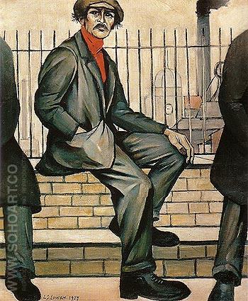 Unemployed 1937 - L-S-Lowry reproduction oil painting