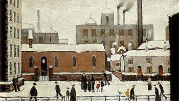 Snow in Manchester 1946 - L-S-Lowry reproduction oil painting