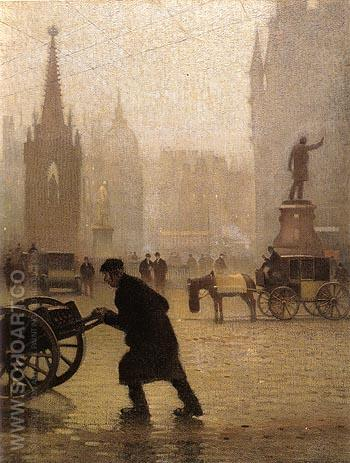 Albert Square 1910 - L-S-Lowry reproduction oil painting
