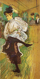 Jane Avril Dancing 1892 - Henri De Toulouse-lautrec reproduction oil painting
