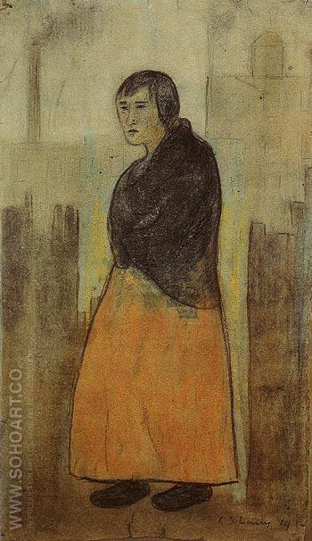 Mill Worker 1912 - L-S-Lowry reproduction oil painting